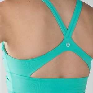 9f87808f43 lululemon athletica Intimates   Sleepwear - NWT sz 6 aqua wrap it up bra  push-